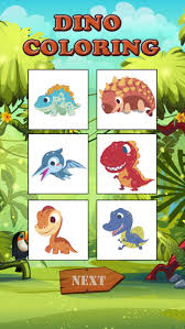Dinosaurs Coloring Book Game For Kids Screenshot 2