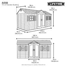 Lifetime 10x8 Shed Assembly by Lifetime Products 6446 Side Entry Outdoor Garden Storage Shed