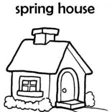 Simple House Coloring Page Kids Drawing And Pages