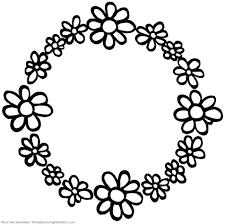 Printable Children Coloring Page Flower Circle Mandala