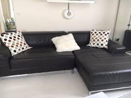 ikea kramfors two piece leather sofa for sale in newport gumtree