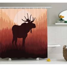 Bear Moose Shower Curtain