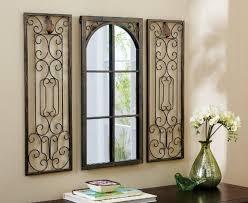 Window Mirror Wall Decor Wrought Iron Rectangular Miror