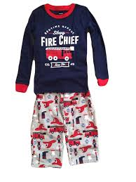 Carters Boys Pajamas Fire Truck Design - 2 Piece: Amazon.co.uk: Clothing