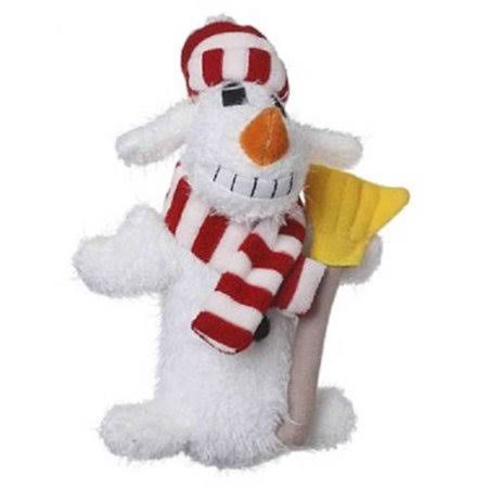 Multipet Loofa Snowman Plush Holiday Dog Toy - 18""