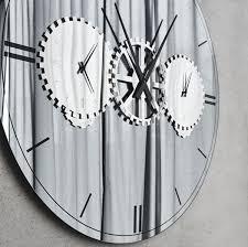 casa padrino luxus wandspiegel wanduhr silber ø 120 cm elegante runde verspiegelte wanduhr wohnzimmer möbel luxus qualität