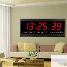 led digitale wanduhr wanduhr mit temperatur und datumsanzeige