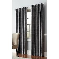 Light Filtering Privacy Curtains by Shop Allen Roth Volney 95 In Pewter Polyester Back Tab Light