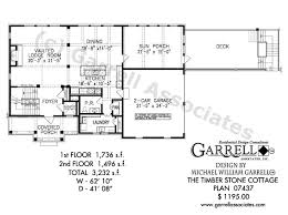 Timber Stone Cottage House Plan 07437 1st Floor