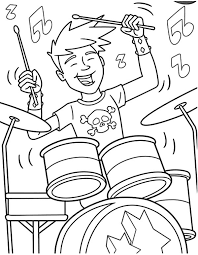 Rock N Roll Coloring Pages Band