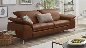 interliving sofa serie 4101 zweisitzer 8792 brandyfarbenes leder torero metallfüße breite ca 208 cm