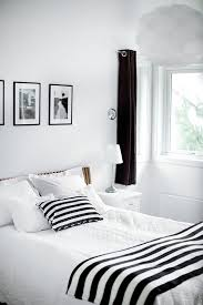 White Bedroom With Black Accent