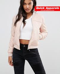http www quickapparels com women quilted faux leather bomber