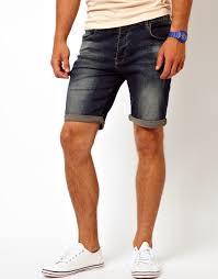g star raw asos denim shorts in skinny fit in blue for men lyst