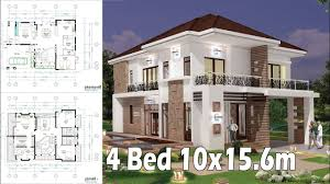 100 Home Design Interior And Exterior 4 Bedroom Plan Full And 10x156m SamPhoas Plan