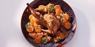 comment cuisiner des cailles cailles braisées aux carottes facile recette sur cuisine actuelle