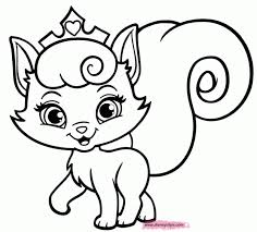 Coloring Pages Kittens Print Cute Kitten Colouring To Online Pictures Animal