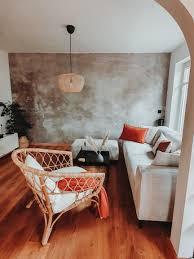 herbstfarben wallpaper wandgestaltung wohnzimmer