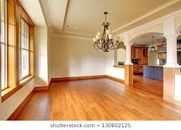 Large Luxury Dining Room Interior With Kitchen And Arch New Empty Home