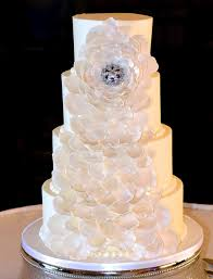 My Image 4 Tier Round Buttercream Frosted Wedding Cake