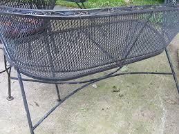 Vintage Wrought Iron Patio Furniture Woodard by Vintage Loveseat Settee Woodard Wrought Iron Patio Chair