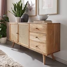 finebuy design sideboard 140x75x40 cm mango massivholz kommode 3 schubladen hoher kommodenschrank holz massiv standschrank wohnzimmer 2