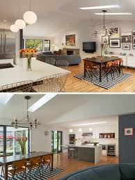 Walls Were Removed Between The Kitchen And Dining Room Living Skylights Added To Brighten Spaces