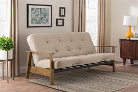 Delaney Sofa Sleeper W Arms by Dhp Furniture Bergen Wood Arm Futon With 6