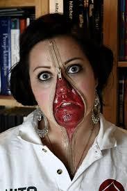 Halloween Half Mask Makeup by 31 Best Halloween Makeup Images On Pinterest Halloween Makeup