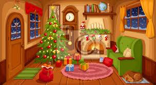 fototapete vektor illustration weihnachten wohnzimmer mit sofa kamin