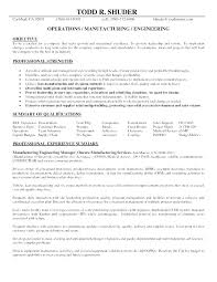 Sample Resume For Production Manager Manufacturing Engineer