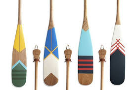 decorative oars and paddles painted cherry wood artisan canoe paddles from norquay co