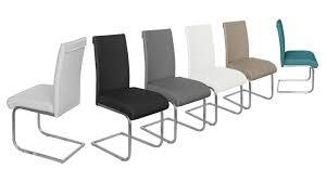 chaise simili cuir gris chaise lysekil design en similicuir mobilier moss