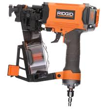 Manual Floor Nailer Harbor Freight by Ridgid 1 3 4 In 15 Gauge Roofing Coil Nailer R175rne The Home Depot