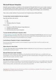 Microsoft Word Resume Sample Luxury How To Make A Cover Letter On Inspirational Web