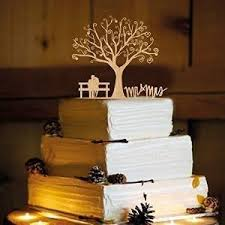 Amazoncom Rustic Wedding Cake Topper Mr And Mrs WA1040 Toppers Canada