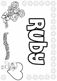 Ruby Coloring Pages