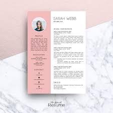 Reanudar La Plantilla Con Foto 3 Páginas CV Cubierta De La Carta Y Referencias Para MS Word Simple Creativo Y Diseño CV Modelo 07 Sarah