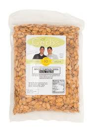 Shelled Pumpkin Seeds Nutritional Value by Smoky Chipotle Dry Roasted In Shell Pumpkin Seeds My Gerbs