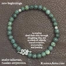 Snake Skin Shedding Lucky by Yoga Bracelets New Beginnings Russian Serpentine Snake