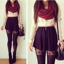 Winter Tumblr Outfits Skater Skirts