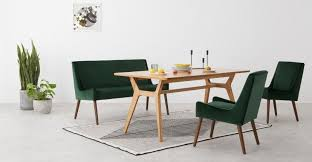 higgs upholstered bench pine green velvet grün esszimmer