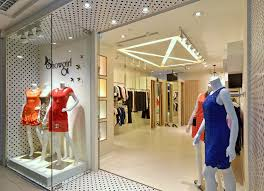 Interior Boutique Store Design Come With Glass Storage Space Wood Ivory Floor And