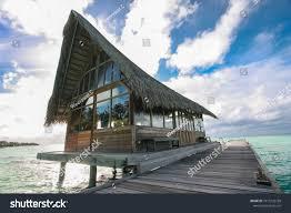 100 Kuramathi Island Maldives Diving Club Resort Stock Photo