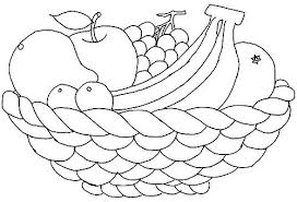 Printable Coloring Pages Fruit Basket Cooloring Com
