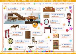El living el edor Living room dinning room Vocabulario