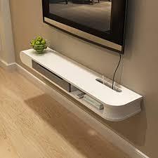 regal schwimmender tv ständer wohnzimmer tv kabine