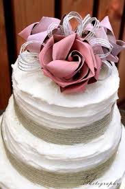 Rustic Flax Flower Cake Topper By Flaxation Flaxationconz