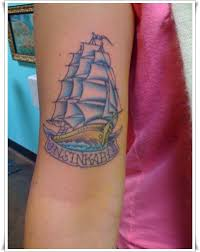 SONY DSC Tattoo Of Unsinkable Sailor Jerry Ship