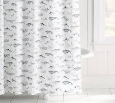 Pottery Barn Sea Glass Bathroom Accessories by Sea Pod Shower Curtain Pottery Barn